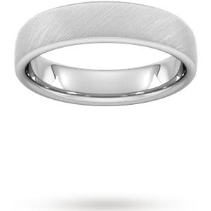 Goldsmiths 5mm Slight Court Heavy Diagonal Matt Finish Wedding Ring In 950 Palladium Wbm5 Cut 69 Womens Jewellery