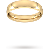 Goldsmiths 5mm Traditional Court Heavy Wedding Ring In 9 Carat Yellow Gold- Ring Size V Wem5 Womens Jewellery