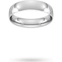 Goldsmiths 5mm Traditional Court Standard Wedding Ring In 950 Palladium- Ring Size O Wel5 Womens Jewellery