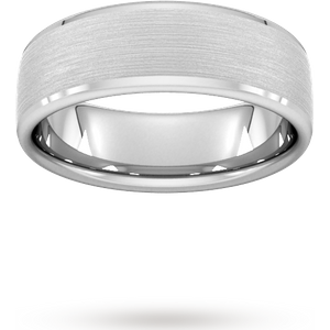 Goldsmiths 7mm Traditional Court Standard Polished Chamfered Edges W ... Wel7 Cut 38 Womens Jewellery