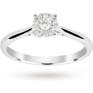 Goldsmiths Brilliant Cut 0.15 Carat Solitaire Diamond Ring In 9 Cara ... M06014772 Womens Jewellery