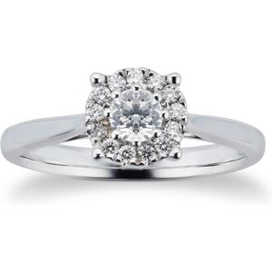 Goldsmiths Brilliant Cut 0.30 Carat Solitaire Diamond Ring In 9 Cara ... M06014772 Womens Jewellery