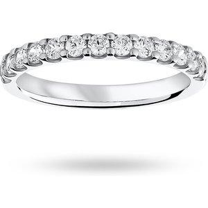 Goldsmiths Platinum 0.50 Carat Brilliant Cut Half Eternity M06504127 Womens Jewellery