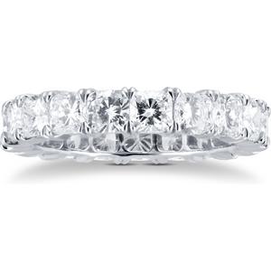 Mappin & Webb Platinum 4.75ct Cushion Cut Diamond Full Eternity Ring M06506465 Womens Jewellery