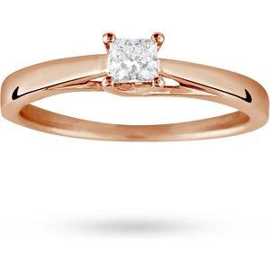 Goldsmiths Princess Cut 0.25 Carat Solitaire Diamond Ring In 18 Cara ... M06015939 Womens Jewellery