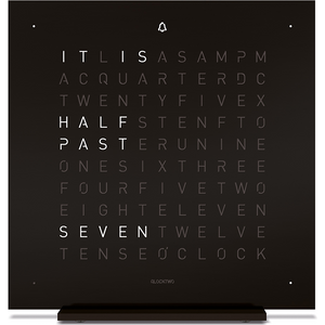 Qlocktwo Touch Metal Table Clock - Deep Black Ftenssbl Mens Watches