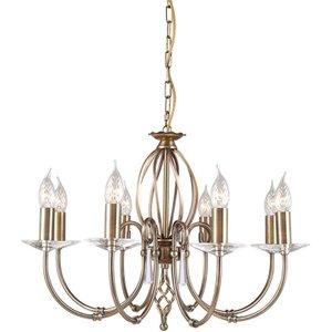 Ag8 Ab Aegean 8 Light Ceiling Pendant Light Ag8 Aged Brass Lighting