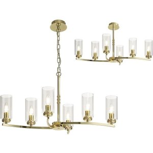 Benz 6 Light Semi Flush Ceiling Light In Polished Gold With Clear Glass Sh7322 Lighting