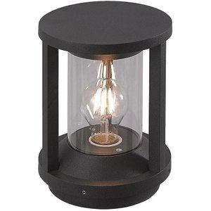 Cole 1 Light Exterior Pillar Lamp Wall Light In Anthracite  Sh7061 Lighting
