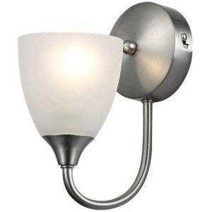 Cooper 1 Light Wall Light In Satin Nickel D0238 Lighting