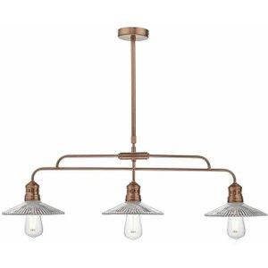 Dar Ade7364 Adeline 3 Light Bar Pendant Light In Copper Lighting