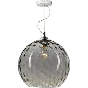 Dar Aul0110 Aulax 1 Light Dimple Smoked Glass Ceiling Pendant Light Lighting