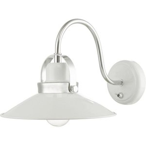 Dar Lid072 Liden One Light Wall Light In White And Polished Chrome Lighting