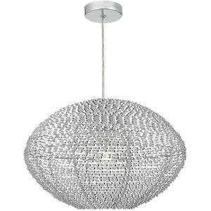 Dar Ois6568 Oisin Easy Fit Pendant Light With Twisted Aluminium Ribbons Lighting