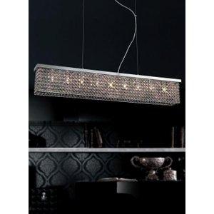 Diyas Il30434 Piazza Polished Chrome Crystal Ceiling Pendant Light Lighting