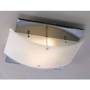 Diyas Il30991 Vito Frosted Glass Flush Ceiling Light Lighting