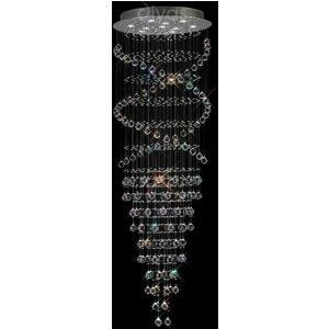 Diyas Il31375 Colorado Crystal V - Spiral Ceiling Pendant Light Lighting