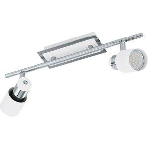 Eglo 92085 Davida 2 Light Ceiling Spotlight In Chrome And White Lighting
