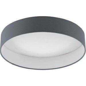 Eglo 96538 Palomaro 1 Led Flush Ceiling Light In Anthracite Fabric - Dia: 405mm Lighting