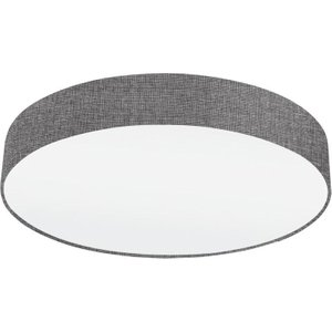 Eglo 97613 Pasteri Flush Ceiling Light In Grey And White Fabric - Dia: 570mm Lighting