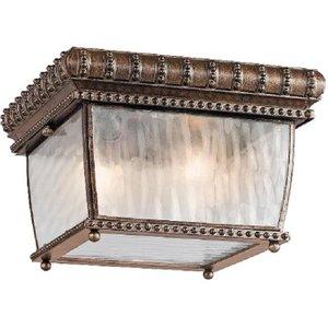 Elstead Kl/venetian/f Venetian Rain 2 Light Flush Ceiling Light In Brushed Bronze  Lighting