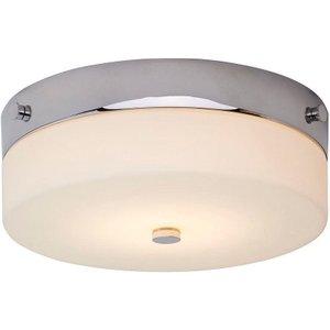 Elstead Tamar/f/m Pc Tamar Medium Bathroom Flush Ceiling Light In Polished Chrome - Dia: 2 Lighting