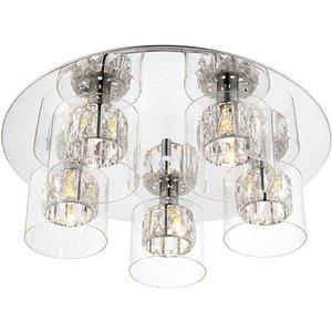 Endon 76517 Verina 5 Light Flush Ceiling Light In Chrome Plate Lighting
