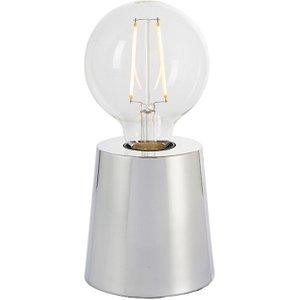 Endon 78182 Mono 1 Light Table Lamp In Chrome Effect Plate Lighting