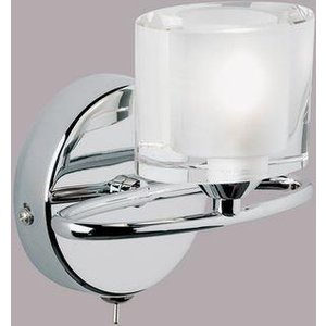 Endon 91181 1 Light Wall Light In Chrome And Crystal Lighting