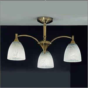 F2105/3 3 Light Bronze Semi-flush Ceiling Light Fl2105/3 Lighting