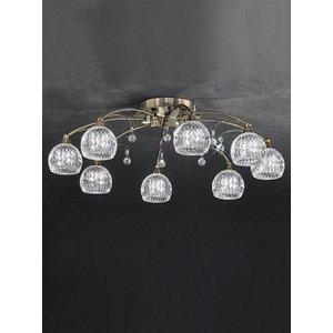 F2296/8 8 Light Bronze, Crystal Semi Flush Ceiling Light Fl2296/8 Lighting