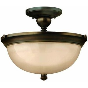 Hk/mayflower/sf 3 Light Olde Bronze Semi Flush Ceiling Light Hk/mayflower3/sf Lighting