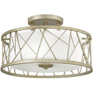 Hk/nest/sf Sl Nest Silver Leaf 3 Light Semi Flush Ceiling Light Lighting