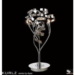 Il30185 Kurlz 3 Light Chrome And Crystal Table Lamp Lighting