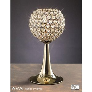 Il30755 Ava 2 Light French Gold Crystal Table Lamp Lighting