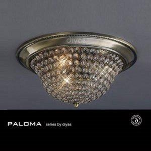 Il31132 Paloma 3 Light Antique Brass Flush Ceiling Light Lighting