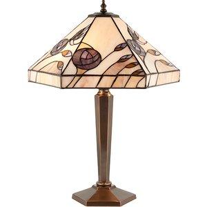 Interiors 1900 64038 Damselfly Tiffany 1 Light Medium Table Lamp In Bronze Lighting