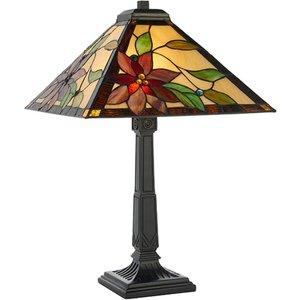 Interiors 1900 64230 Lelani Tiffany 2 Light Medium Table Lamp - Height: 600mm Lighting