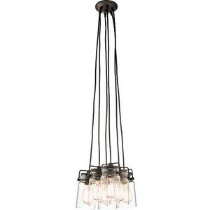 Kl/brinley6 Oz Brinley 6 Light Bronze Vintage Cluster Ceiling Pendant Light Lighting