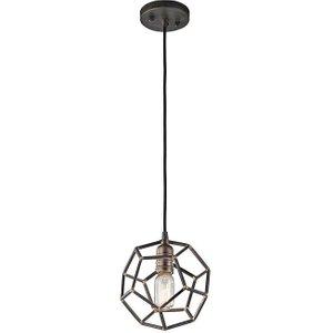 Kl/rocklyn/mp Rs Rocklyn 1 Light Mini Pendant Ceiling Light In Raw Steel Lighting