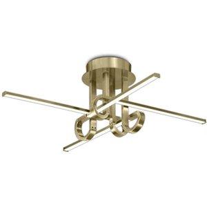 M6128 Cinto 4 Light Led Semi Flush Ceiling Light In Antique Brass Lighting