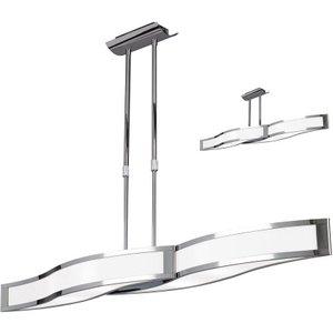 Mantra M0666 Sintesys 2 Light Linear Semi Flush Ceiling Light In Chrome Lighting
