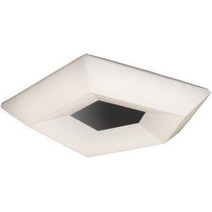 Mantra M3796 City Led Medium Flush Ceiling Light In Chrome And White - Length: 400mm Lighting