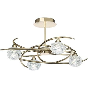 Mantra M3943fg Maremagnum 4 Light Semi Flush Ceiling Light In French Gold Lighting