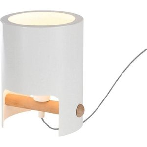 Mantra M5593 Cube 1 Light Small Table Lamp In White Lighting