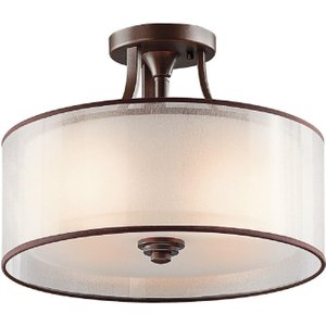Mb Lacey Double Mesh Shade Semi Flush Ceiling Light Kl/lacey/sf Mb Lighting