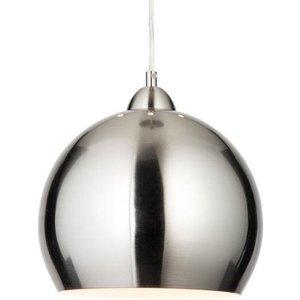 Modern Satin Chrome Globe Cafe Ceiling Pendant Light L4l 76 020 Lighting