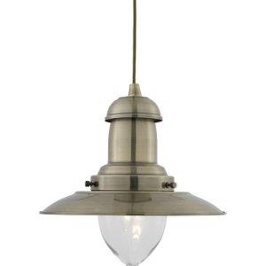 Padstow Modern Aged Brass Fishermans Ceiling Pendant Light  L4l 5402ab Lighting