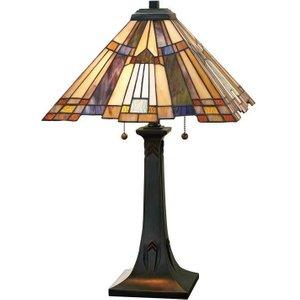 Qz/inglenook/tl Inglenook Tiffany Bronze Table Lamp Lighting