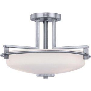Qz/taylor/sfbath Taylor 3 Light Semi Flush Ceiling Light In Polished Chrome Lighting